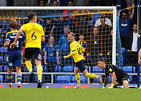 4th September 2021; Merton, London, England;  EFL Championship football, AFC Wimbledon versus Oxford City: Mark Sykes of Oxford United celebrates after scoring his sides 1st goal in the 44th minute to make it 0-1