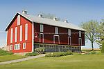 Buffalo Valley restored red barn in Spring..