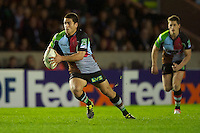 Ben Botica of Harlequins in action during the Heineken Cup match between Harlequins and Biarritz Olympique Pays Basque at the Twickenham Stoop on Saturday 13th October 2012 (Photo by Rob Munro)