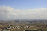 Judea, an outpost near Nokdim, a view from Herodion, built by Herod in the Judean desert