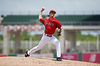 GCL Red Sox relief pitcher Ryan Fernandez (65) delivers a pitch during a game against the GCL Orioles on August 9, 2018 at JetBlue Park in Fort Myers, Florida.  GCL Red Sox defeated GCL Orioles 10-4.  (Mike Janes/Four Seam Images)
