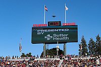 STANFORD, CA - JUNE 29: Stanford Stadium, fly over during a Major League Soccer (MLS) match between the San Jose Earthquakes and the LA Galaxy on June 29, 2019 at Stanford Stadium in Stanford, California.