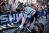 Jolien d'Hoore (BEL/SD Worx) post-finish<br /> <br /> Mixed Relay TTT <br /> Team Time Trial from Knokke-Heist to Bruges (44.5km)<br /> <br /> UCI Road World Championships - Flanders Belgium 2021<br /> <br /> ©kramon