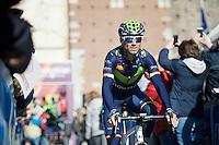 Alejandro Valverde (ESP/Movistar) returning from sign-on<br /> <br /> 107th Milano-Sanremo 2016