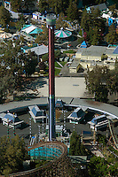 aerial photograph California's Great America amusement park, Santa Clara, California