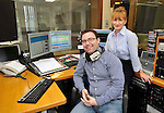 Paul Moriarty, Programme Controller and Head of Operations Susan Murphy at Clare FM. Photograph by John Kelly.