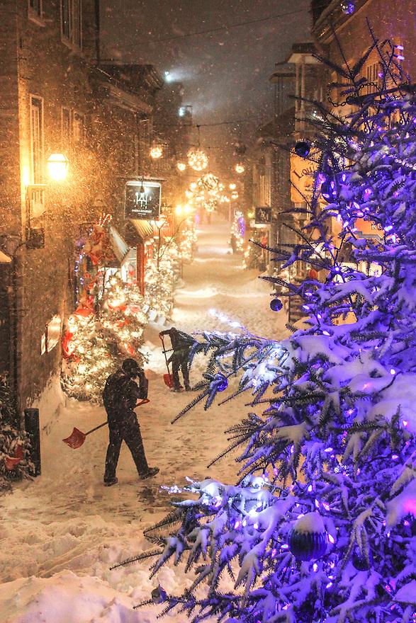 Winter Land in Quebec City, Canada.
