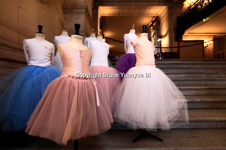Tutus ballet skirts display in Opera Garnier. Palais Garnier. City of Paris. Paris