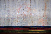 A very old and historic painting on one of the walls in a monestary