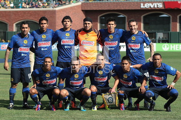 Club America Starting Eleven. Manchester City defeated Club America 2-0 in the Herbalife World Football Challenge 2011 at AT&T Park in San Francisco, California on July 16th, 2011.