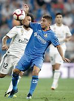 Getafe CF's Francisco Portillo during La Liga match. August 19,2018.  *** Local Caption *** © pixathlon<br /> Contact: +49-40-22 63 02 60 , info@pixathlon.de