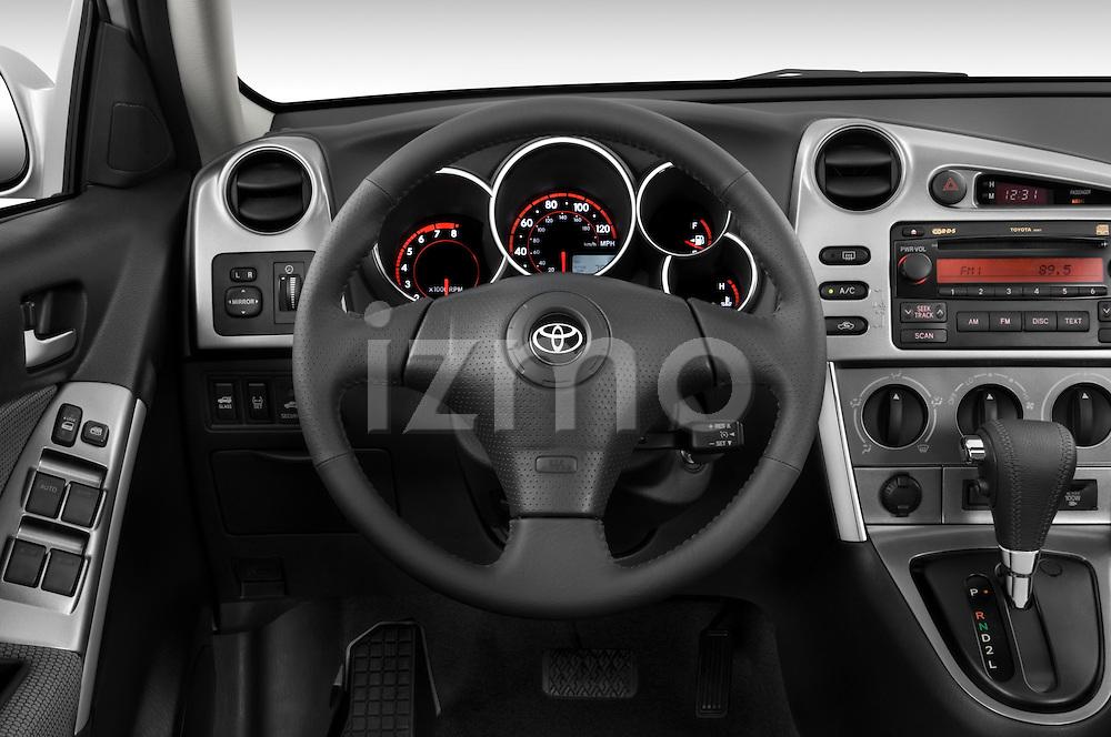 Steering wheel view of a 2008 Toyota Matrix wagon