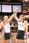 Veteran Men (age 50-54) Winners LtoR: Andrew Sangster, Team GB, 3rd, David Gray, Concept2 Team Germany, 1st, , The Crash-B World Indoor Rowing Championships, Peter Dreissigacker, Concept2, Veteran Men (Age 60-64), 2012, Boston, Massachusetts, All athletes compete annually on a Concept2 Indoor Rower for time over 2000 meters,