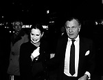 Gloria Vanderbilt and Bill Blass.Attending a Broadway Show in.New York City..September 1982.© Walter McBride /