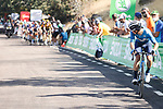 Miguel Angel Lopez Moreno (COL) on the final climb during Stage 14 of La Vuelta d'Espana 2021, running 165.7km from Don Benito to Pico Villuercas, Spain. 28th August 2021.     <br /> Picture: Luis Angel Gomez/Photogomezsport   Cyclefile<br /> <br /> All photos usage must carry mandatory copyright credit (© Cyclefile   Luis Angel Gomez/Photogomezsport)