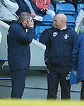 Ally McCoist and Kenny McDowall together discussing tactics