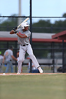 Matthew Corlew (64) of Park Vista High School in Lake Worth, Florida during the Under Armour Baseball Factory National Showcase, Florida, presented by Baseball Factory on June 12, 2018 the Joe DiMaggio Sports Complex in Clearwater, Florida.  (Nathan Ray/Four Seam Images)