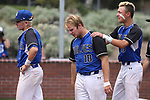 Basic players react to losing 4-2 to Palo Verde in the NIAA 4A baseball championship game in Reno, Nev., on Saturday, May 19, 2018. Cathleen Allison/Las Vegas Review-Journal