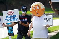 Protestors Outside Trump National Golf Club Washington DC