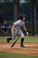 AZL White Sox third baseman Micah Coffey (15) starts down the first base line during an Arizona League game against the AZL Dodgers at Camelback Ranch on July 7, 2018 in Glendale, Arizona. The AZL Dodgers defeated the AZL White Sox by a score of 10-5. (Zachary Lucy/Four Seam Images)