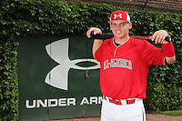 First baseman/pitcher Rookie Davis (34) during the 2010 Under Armour All-American Game powered by Baseball Factory at Wrigley Field in Chicago, New York;  August 13, 2010.  Photo By Mike Janes/Four Seam Images