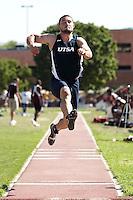 SAN ANTONIO, TX - APRIL 1, 2011: The University of Texas at San Antonio Roadrunners Track & Field team competes at the Trinity Alumni Classic at E.M. Stevens Stadium on the campus of Trinity University. (Photo by Jeff Huehn)