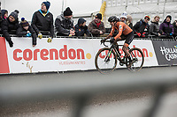 Marianne Vos (NED/WM3 Pro Cycling Team) finishing <br /> <br /> Women Elite Race<br /> UCI CX Worlds 2018<br /> Valkenburg - The Netherlands