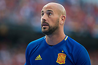 Spain's Pepe Reina during match between Spain and Italy to clasification to World Cup 2018 at Santiago Bernabeu Stadium in Madrid, Spain September 02, 2017. (ALTERPHOTOS/Borja B.Hojas)