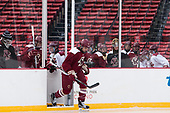 Chris Calnan (BC - 11) leads the team onto the Fenway ice. - The Boston College Eagles practiced at Fenway on Friday, January 6, 2017, in Boston, Massachusetts.