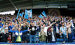 Huddersfield Town 1 Wolverhampton Wanderers 0, 27/08/2016. John Smith's Stadium, Championship. Huddersfield fans in the singing area in the Chadwick Stand. Photo by Paul Thompson.