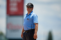 Umpire Denver Dangerfield during a Gulf Coast League game between the GCL Red Sox and GCL Orioles on July 29, 2019 at Ed Smith Stadium in Sarasota, Florida.  GCL Red Sox defeated the GCL Pirates 9-1.  (Mike Janes/Four Seam Images)