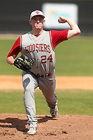Indiana Hoosiers Drew Leininger #24 during a game vs UMass at Lake Myrtle Main Field in Auburndale, Florida;  March 16, 2011.  Indiana defeated UMass 11-10.  Photo By Mike Janes/Four Seam Images