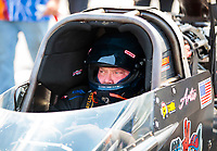 Sep 26, 2020; Gainesville, Florida, USA; NHRA top fuel driver Arthur Allen during qualifying for the Gatornationals at Gainesville Raceway. Mandatory Credit: Mark J. Rebilas-USA TODAY Sports
