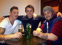 Pictured: Aaeron Evans (C), image taken from his social media page.<br /> Re: Trial at Cardiff Crown Court of Jake Vallely, 23 and Aaeron Evans, 22, charged with murder and causing actual bodily harm respectively in relation to the death of serviceman Matthew Boyd, 20, from the Royal Gibraltar Regiment who was discovered injured and unconscious in Lion Street, Brecon, at 1am on May 8, 2016. The two defendants were arrested shortly afterwards and charged four days later.