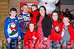 The O'Leary family from Rathmore visited Santa Claus in the Killarney Outlet Centre on Saturday l-r: David , Aeneas, Emily, Melissa, Maeve, Kaylee and Alan O'Leary