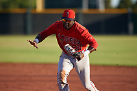 AZL Angels first baseman Cristian Gomez (37) during a game against the AZL Giants Orange at Giants Baseball Complex on June 17, 2019 in Scottsdale, Arizona. AZL Giants Orange defeated AZL Angels 8-4. (Zachary Lucy/Four Seam Images)