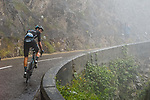 Søren Kragh Andersen (DEN) Team DSM climbs into the mist during Stage 8 of the 2021 Tour de France, running 150.8km from Oyonnax to Le Grand-Bornand, France. 3rd July 2021.  <br /> Picture: A.S.O./Charly Lopez | Cyclefile<br /> <br /> All photos usage must carry mandatory copyright credit (© Cyclefile | A.S.O./Charly Lopez)