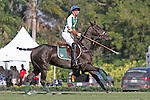 WELLINGTON, FL - FEBRUARY 19:  Sapo Caset watches down field. Scenes from the Ylvisaker Cup Final as Coca Cola 9 defeats Tonkawa 8 in overtime with a Golden Goal on a Penalty 2 by Julio Arellano, in the William Ylvisaker Cup Final, at the International Polo Club, Palm Beach on February 19, 2017 in Wellington, Florida. (Photo by Liz Lamont/Eclipse Sportswire/Getty Images)