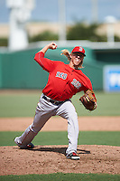 Boston Red Sox pitcher Jordan Weems (22) during an Instructional League game against the Minnesota Twins on September 23, 2016 at JetBlue Park at Fenway South in Fort Myers, Florida.  (Mike Janes/Four Seam Images)