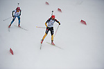 MARTELL-VAL MARTELLO, ITALY - FEBRUARY 02: (R) HENNECKE Carolin (GER)  during the Women 7.5 km Sprint at the IBU Cup Biathlon 6 on February 02, 2013 in Martell-Val Martello, Italy. (Photo by Dirk Markgraf)