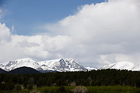 A mountain range is pictured in Rocky Mountain National Park, Colorado on Wednesday, May 31, 2017. (Photo by James Brosher)
