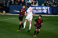 Chester, PA - Sunday December 10, 2017: Drew Skundrich, Grant Lillard. Stanford University defeated Indiana University 1-0 in double overtime during the NCAA 2017 Men's College Cup championship match at Talen Energy Stadium.