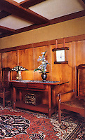 Greene & Greene:  Gamble House, Pasadena CA., 1908.   Interior detail.<br />