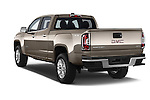 Car pictures of rear three quarter view of a 2015 GMC Canyon SLT Crew Cab SWB 4 Door Truck Angular Rear