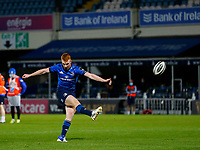 16th November 2020; RDS Arena, Dublin, Leinster, Ireland; Guinness Pro 14 Rugby, Leinster versus Edinburgh; Ciarán Frawley of Leinster converts a try