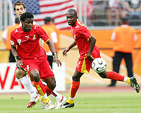 Derek Boeteng (9) of Ghana makes a pass. Ghana defeated the USA 2-1 in their FIFA World Cup Group E match at Franken-Stadion, Nuremberg, Germany, June 22, 2006.