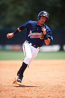 GCL Braves designated hitter Collin Yelich (30) running the bases during a game against the GCL Blue Jays on August 5, 2016 at ESPN Wide World of Sports in Orlando, Florida.  GCL Braves defeated the GCL Blue Jays 9-0.  (Mike Janes/Four Seam Images)