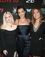 WEST HOLLYWOOD, CA - SEPTEMBER 13: Harlow Jane, Katie Cassidy and Jasper Polish, at the LA Premiere Screening Of I Love Us at Harmony Gold in West Hollywood, California on September 13, 2021. Credit: Faye Sadou/MediaPunch