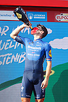 Fabio Jakobsen (NED) Deceuninck-Quick-Step wins Stage 16 of La Vuelta d'Espana 2021, running 180km from Laredo to Santa Cruz de Bezana, Spain. 31st August 2021.     <br /> Picture: Luis Angel Gomez/Photogomezsport   Cyclefile<br /> <br /> All photos usage must carry mandatory copyright credit (© Cyclefile   Luis Angel Gomez/Photogomezsport)