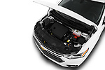Car Stock 2018 Chevrolet Traverse 1LT 5 Door SUV Engine  high angle detail view